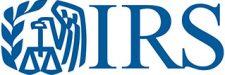 Internal Revenue Service logo in blue